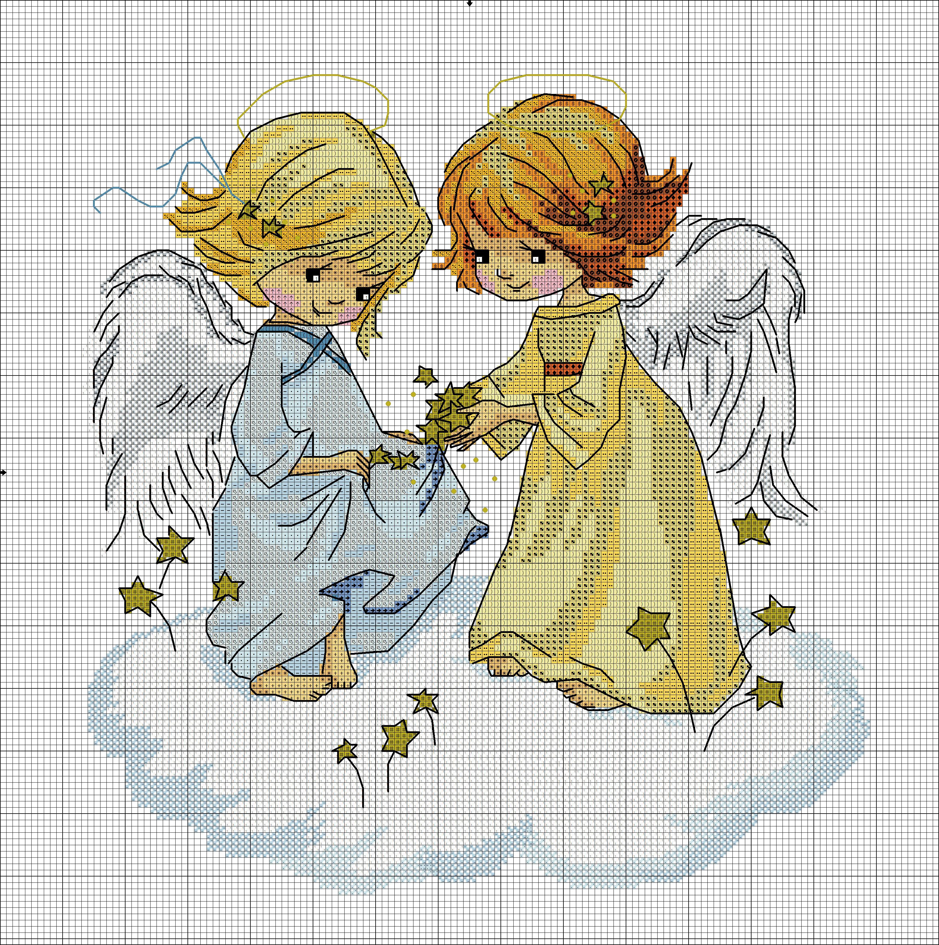 Ангелочек вышить схема