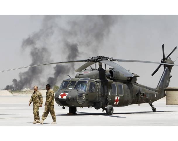 002 Вертолет в афганский госпиталь