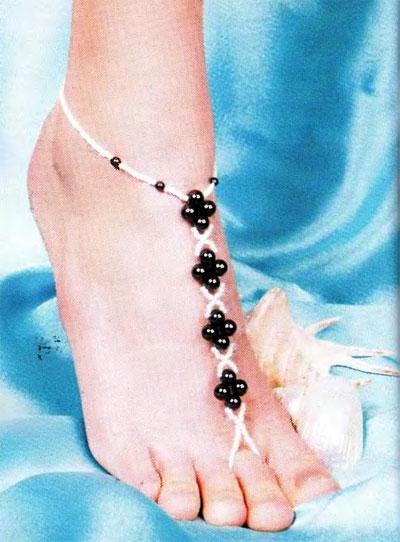 Как сделать ножной браслет своими руками