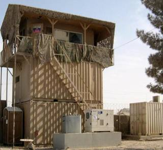 guard station on the southern periphery of KAF