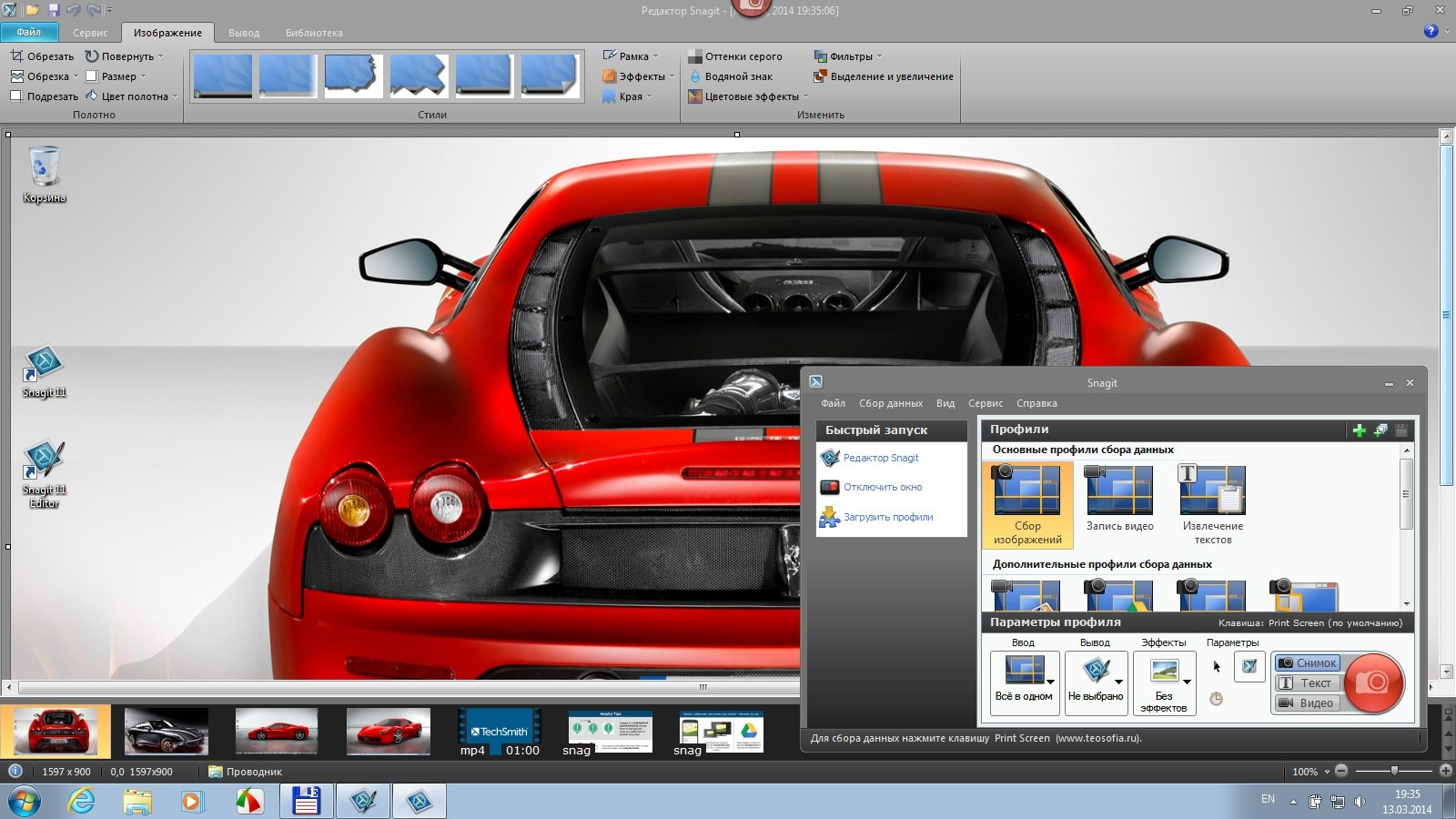 Techsmith Snagit v11.4.3 Build 280 Final + Portable by punsh (2014) Английский + Русский