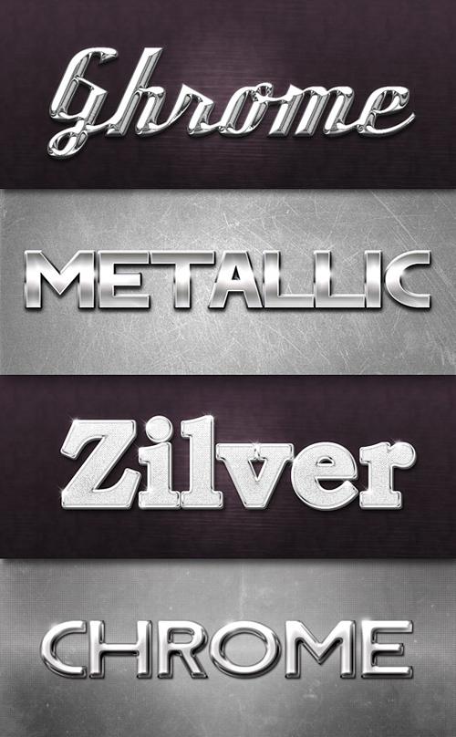 Chrome & Metal Photoshop Styles