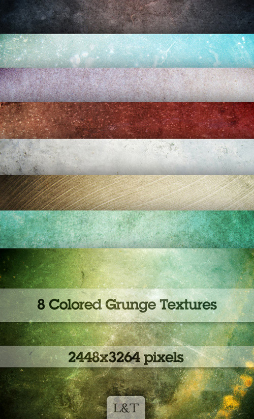 Colored Grunge Textures, Pack 4