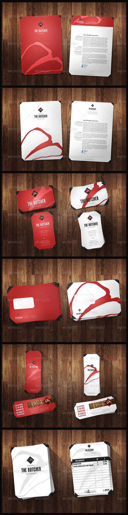 GraphicRiver - Corporate Identity Pack - Red & White Versions