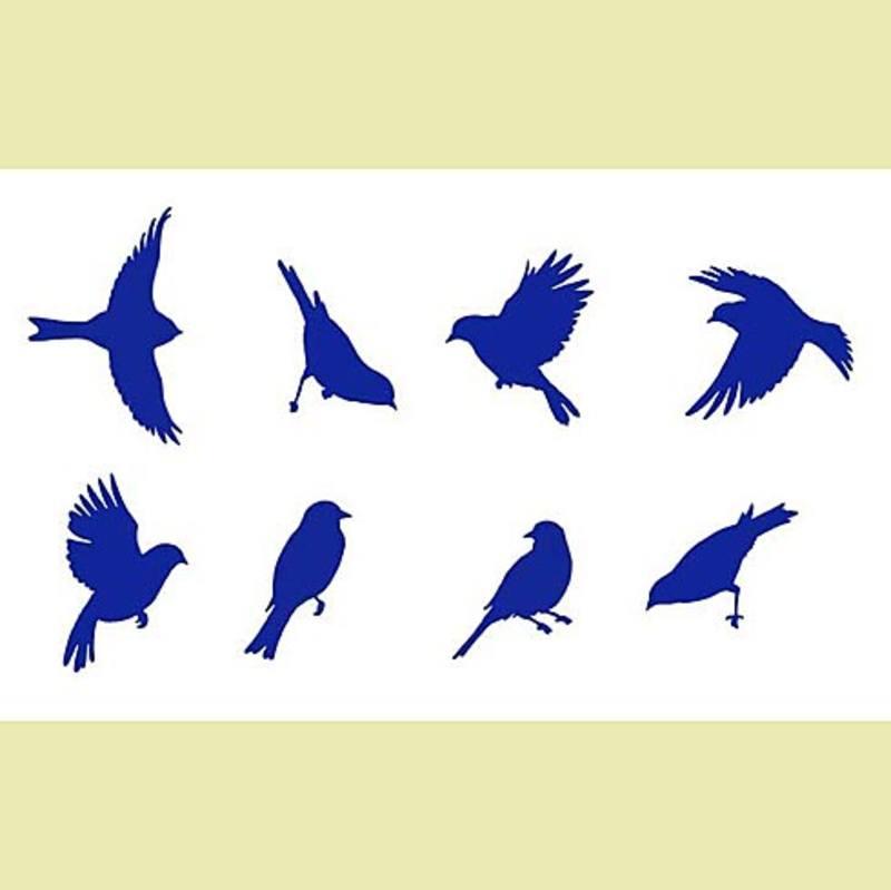 Птицы трафарет своими руками