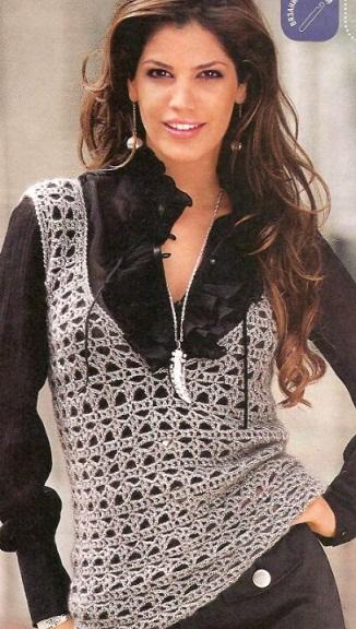 Модели вязания женского жилета
