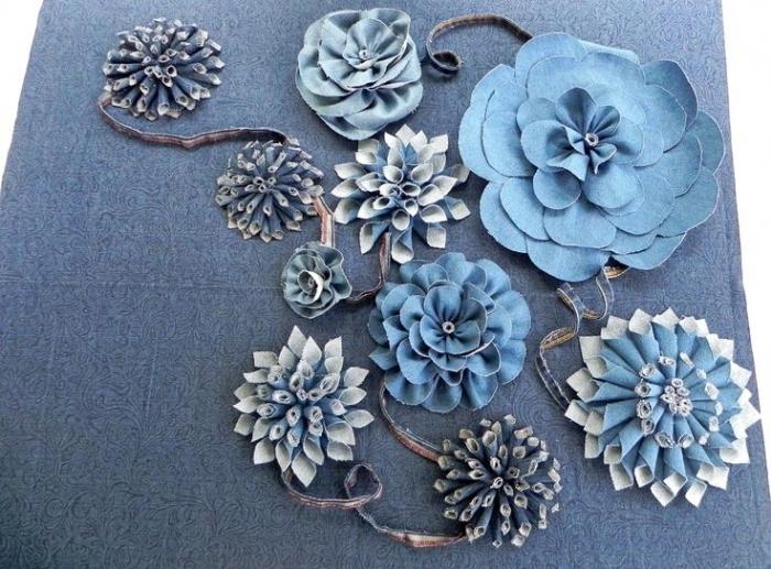 Цветы из джинсы своими руками пошаговая инструкция