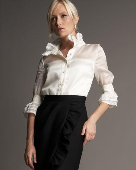 Красивые Белые Блузки Фото В Самаре