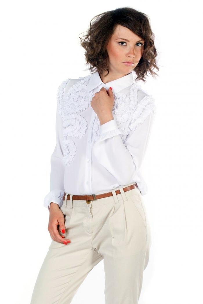 Блузки из трикотажа для полных