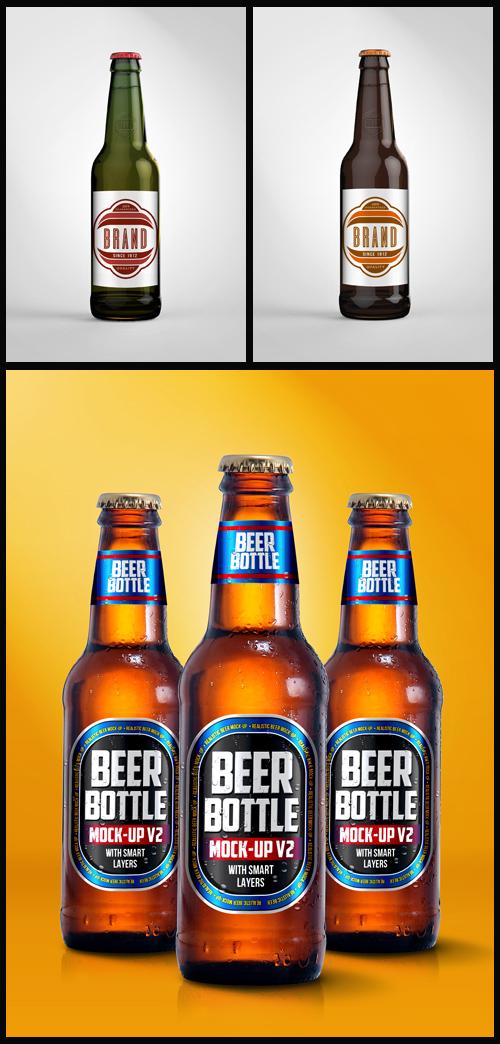 photoshop mock ups beer bottles with labels all design template photoshop vector. Black Bedroom Furniture Sets. Home Design Ideas