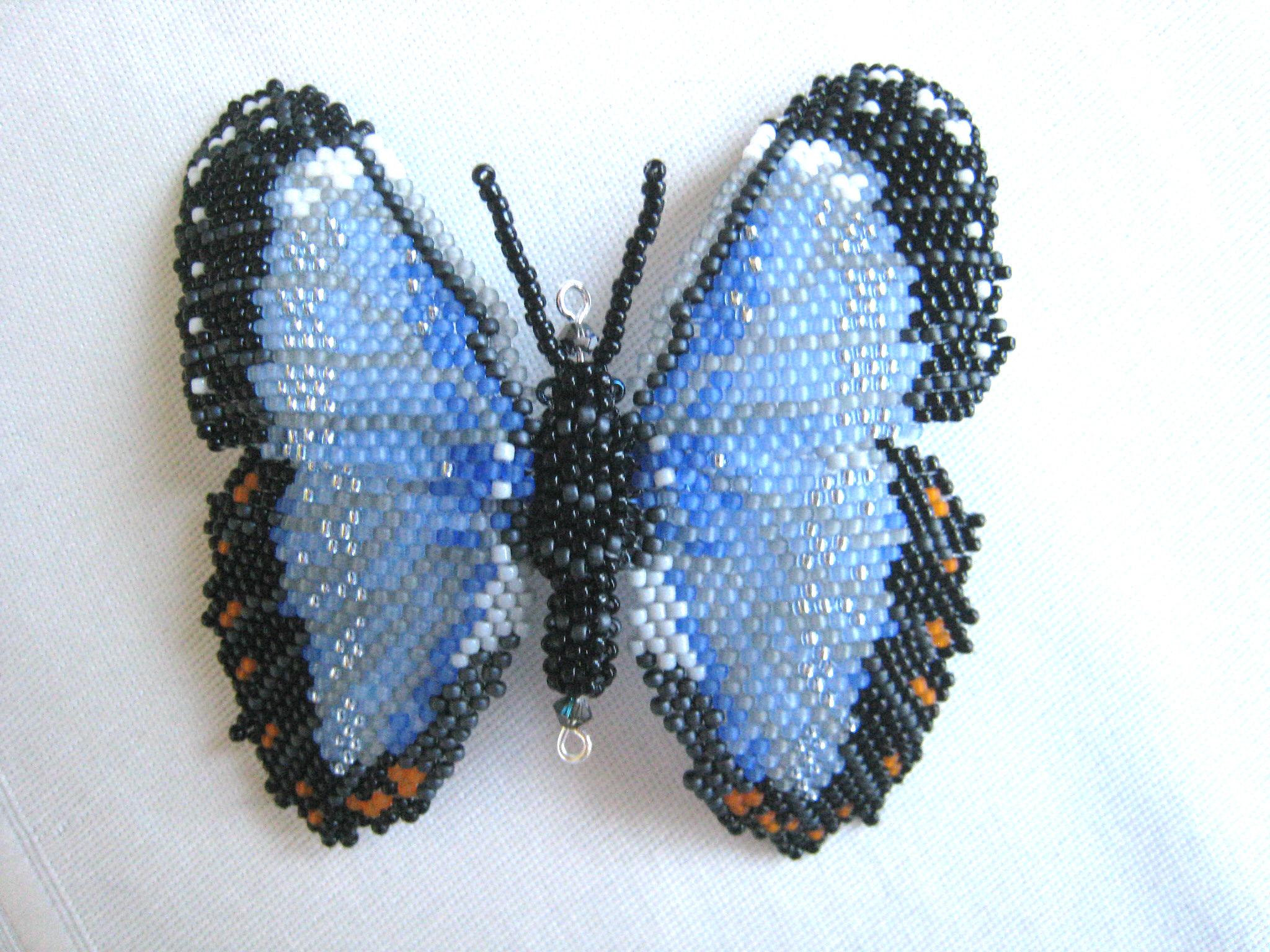 Бабочка из бисера мастер класс с пошаговым фото
