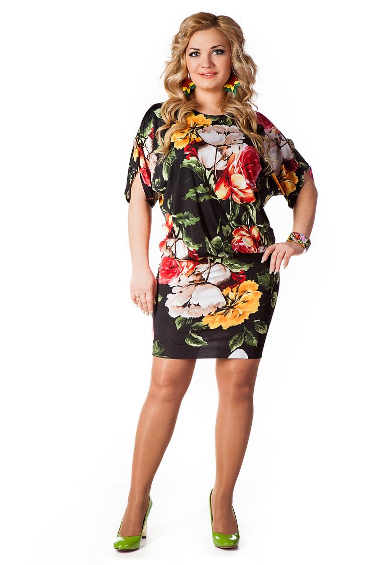 Летние трикотажные платья для полных
