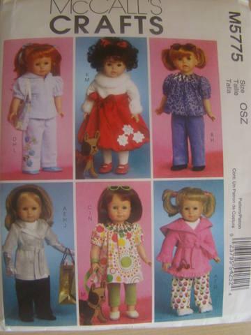 Выкройка одежды для кукол 45 см 93