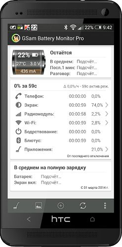 GSam Battery Monitor Pro v3.19 [All versions/Android]