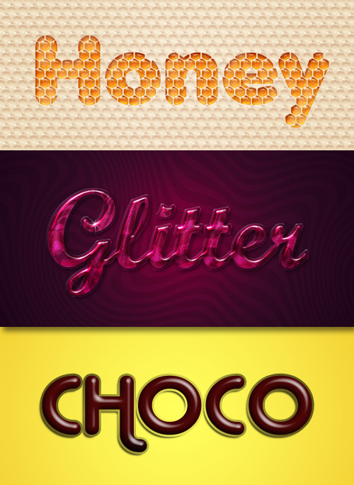 Photoshop Styles - Honey, Glossy, Chocolate