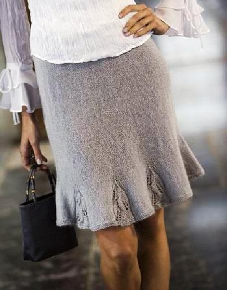 Вязаные юбки для женщин выполнены спицами и крючком.Метки: вязание спицами