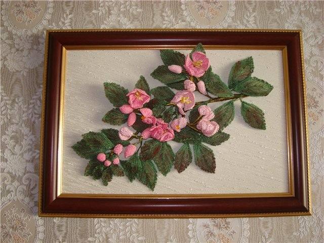 Вязание цветов и картины из них