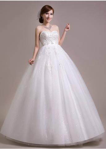 Пышное свадебные платья для беременных 81