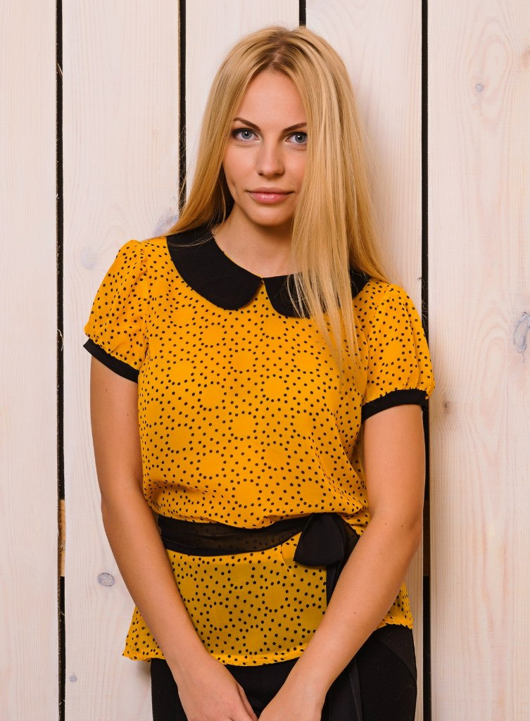 Жолтая Шыфоновая Блузка Интернет Каталог