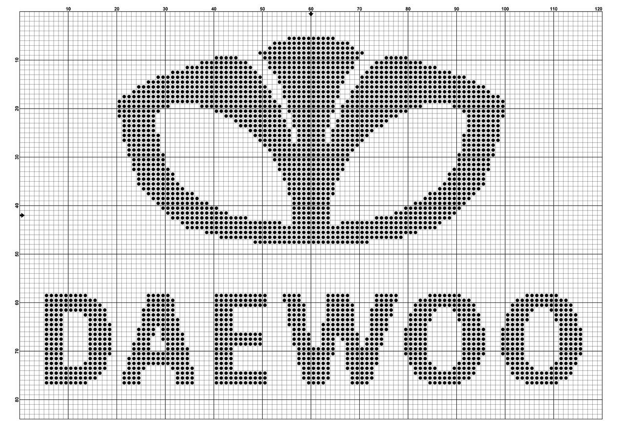 Схема для вышивки эмблемы 622