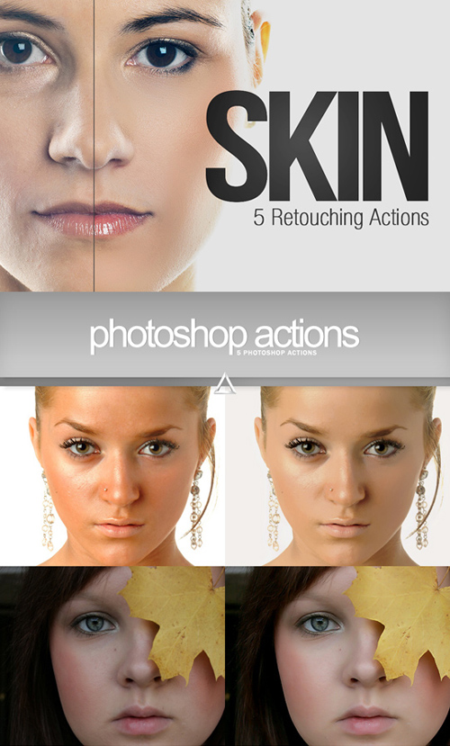 10 Retouching Actions for Photoshop