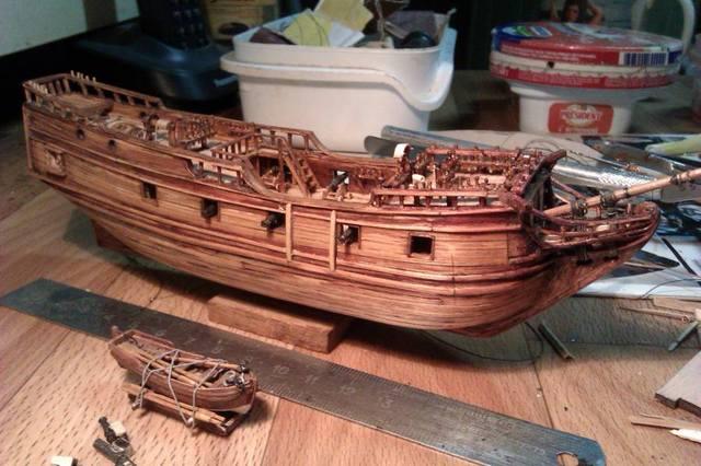 Пиратский корабль из дерева своими руками