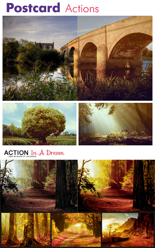 Photoshop Actions - Postcard & In a Dreams