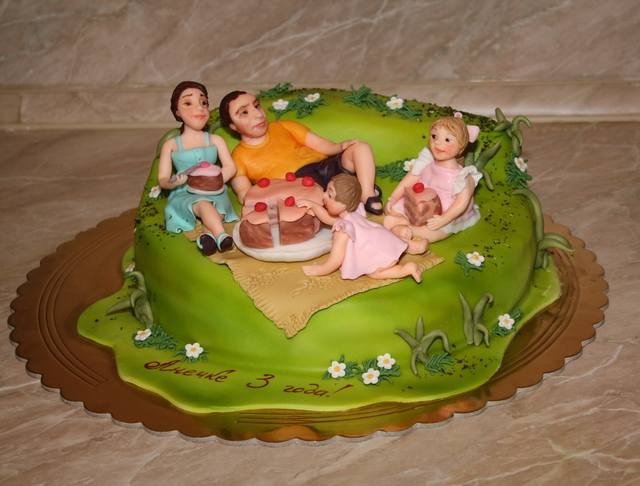 Торты с днем рождения семьи