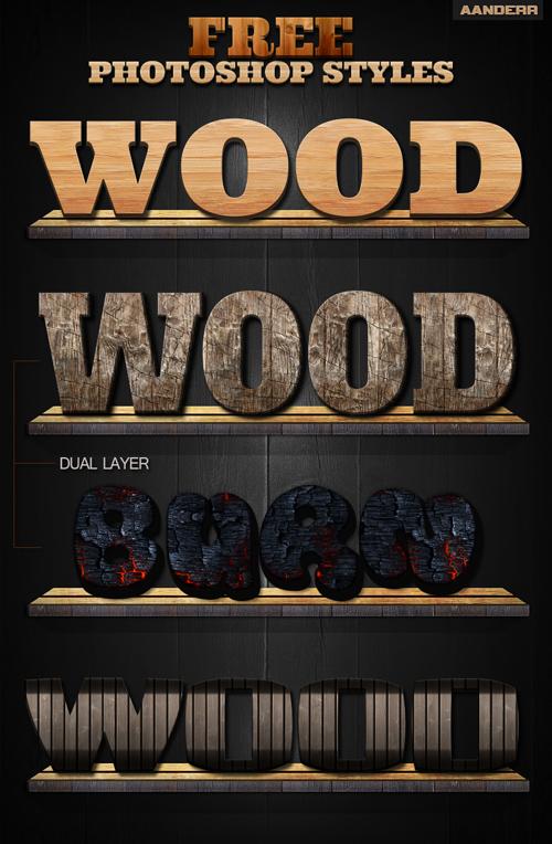 Wood Photoshop Styles V2