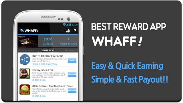 Whaff Rewards - приложение для Android v168 (2014/RUS/ENG/Android)