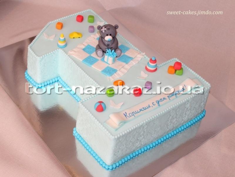 Как сделать торт единичка