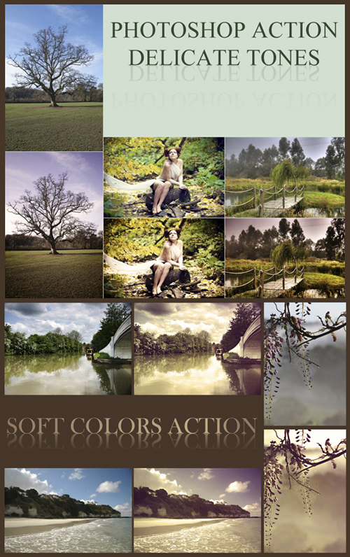 Photoshop Actions - Delicate Tones & Soft Colors