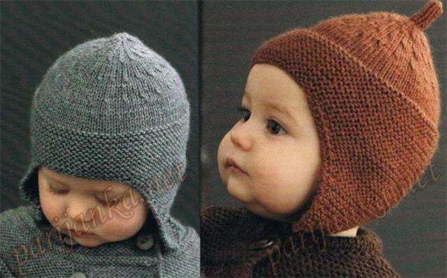 Связать шапочку для мальчика на 4 месяца