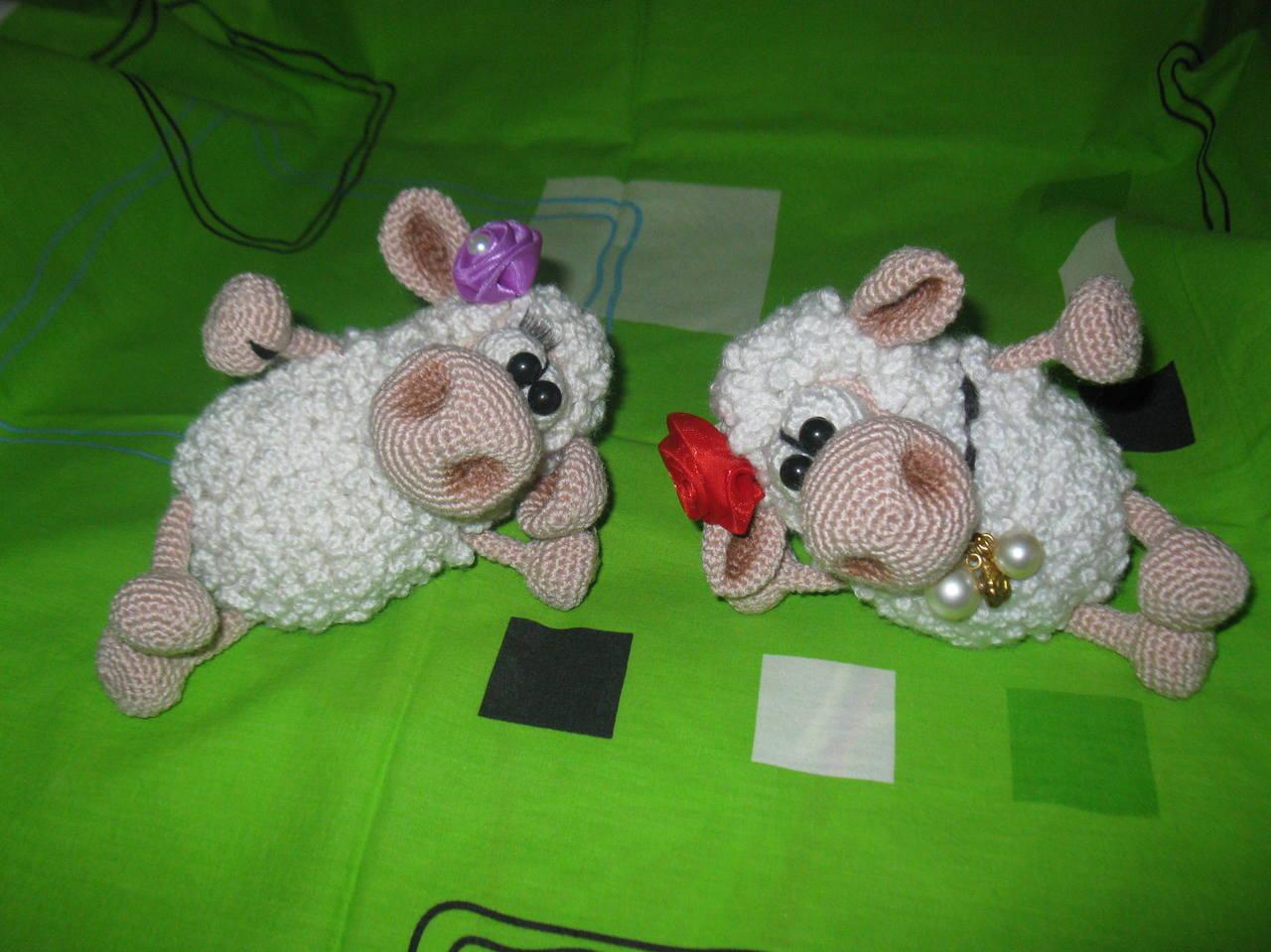 Мастер класс по вязания овечки крючком 44