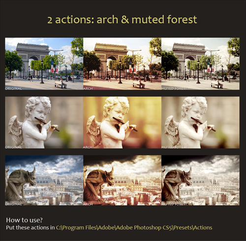 Photoshop Actions - Arch and Muted Forest