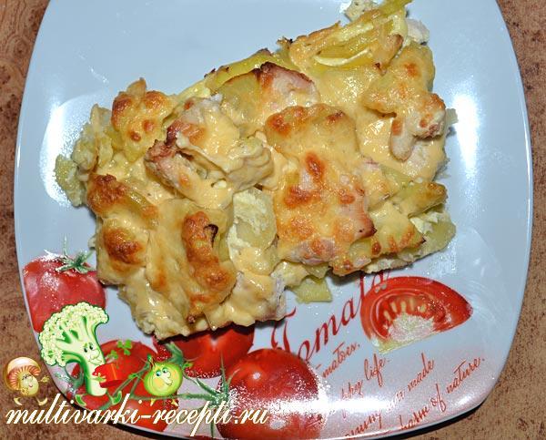 Курица с картошкой с сыром в мультиварке рецепты с фото