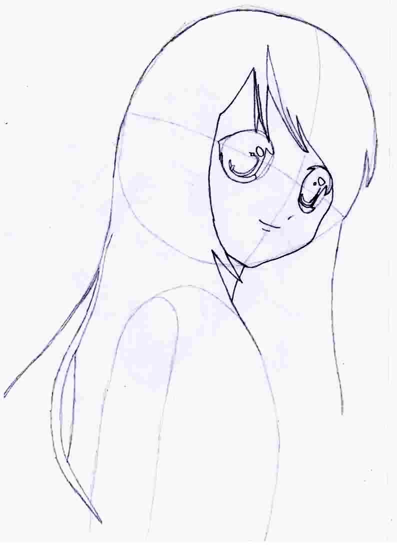 Как нарисовать аниме девушку карандашом поэтапно по