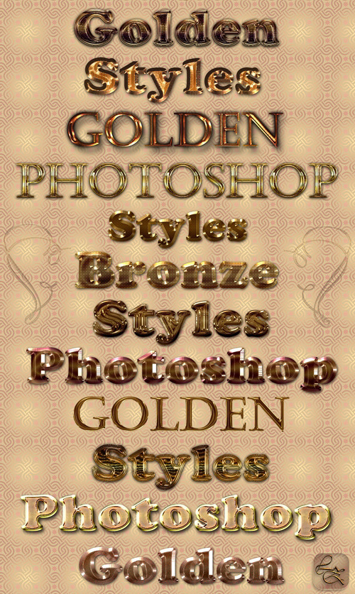 Golden & Brilliant Photoshop Styles
