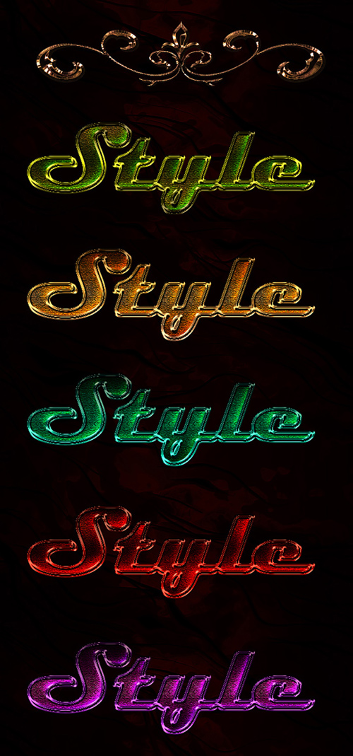 Color Photoshop Styles with Lurex