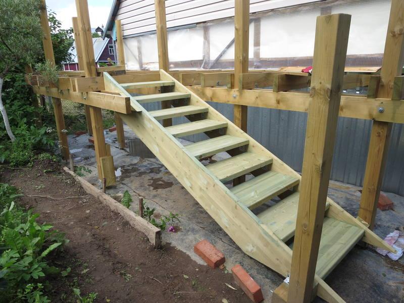 Деревянные лестницы для веранды своими руками