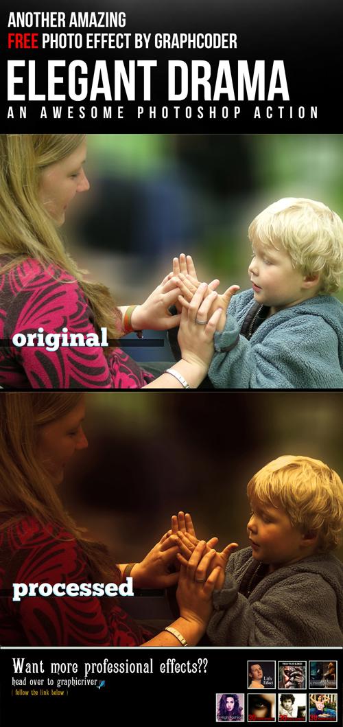 Photoshop Action - Elegant Drama Effect