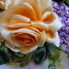 Цветы и вышивка лентами