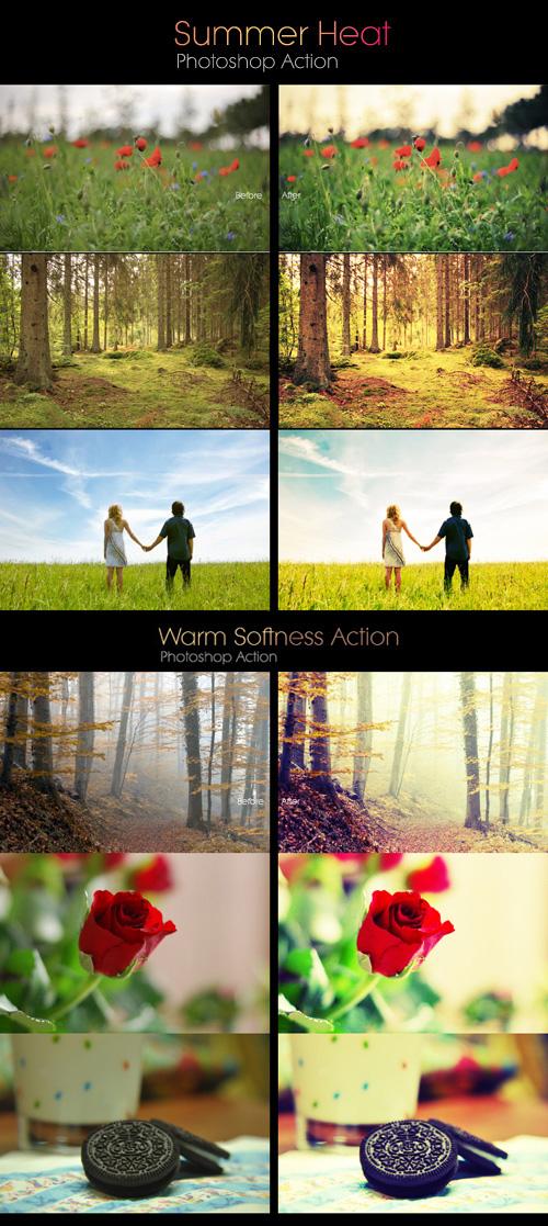 Photoshop Actions - Summer Heart & Warm Softness