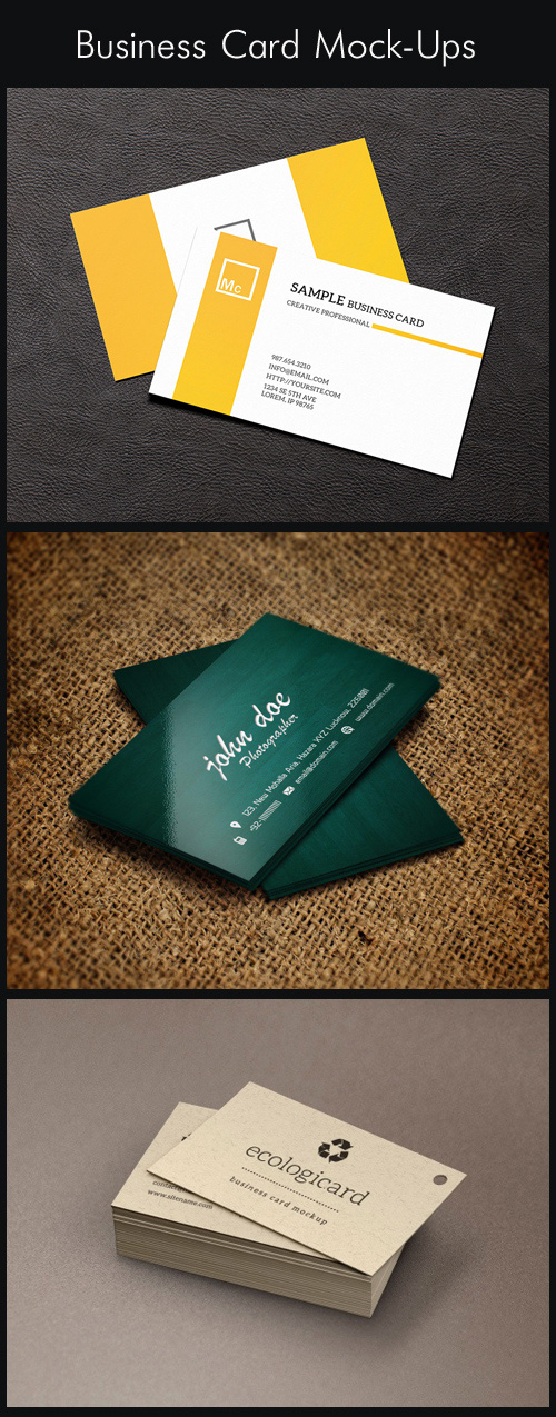 Business Card Mock-Ups, part 1