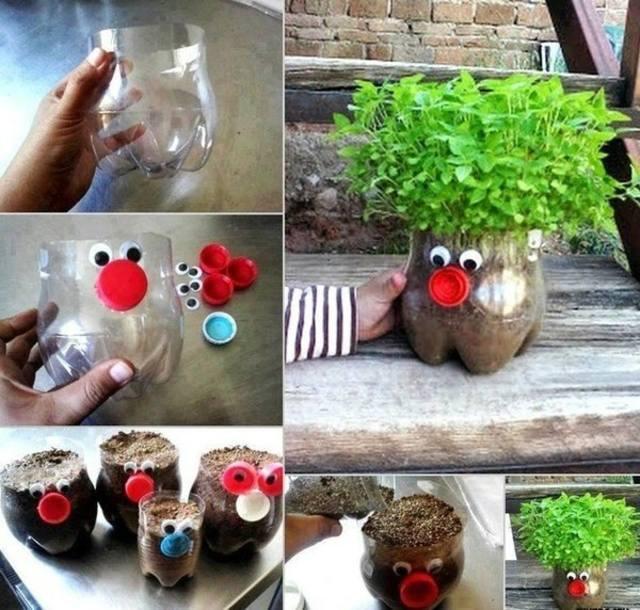 Своими руками поделки для сада из пластик
