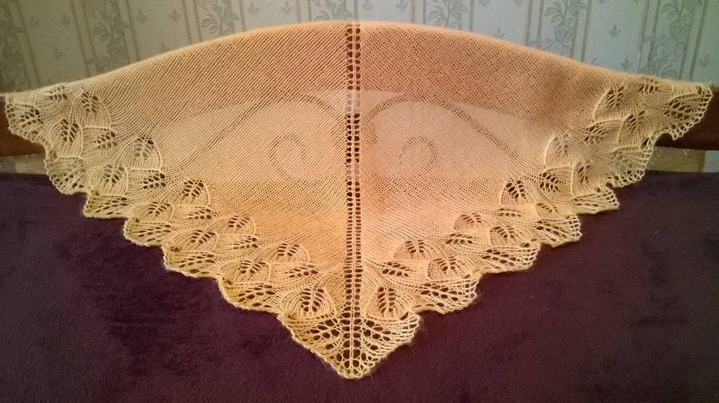 Вязание шалей на петле