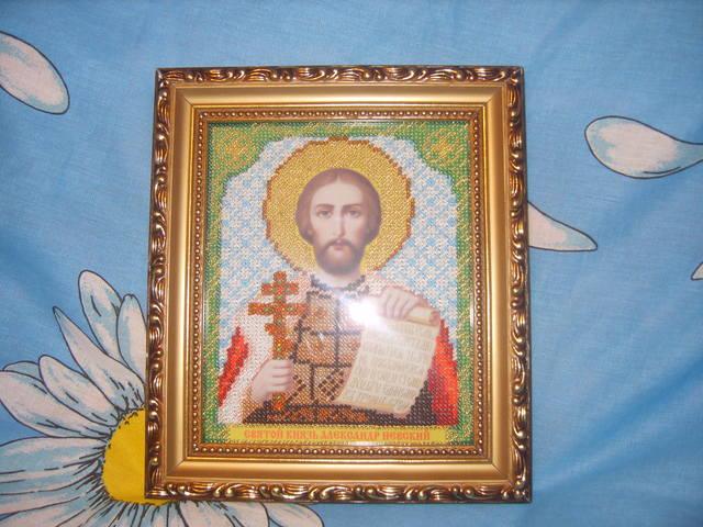 Александр невский икона вышивка бисером