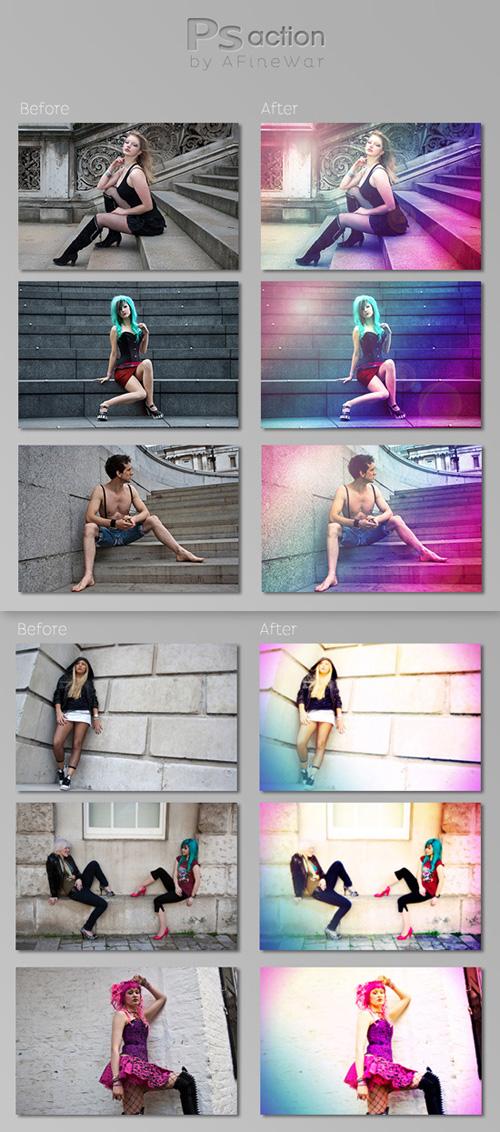 Photoshop Actions - Fairy Glow & Color Colors
