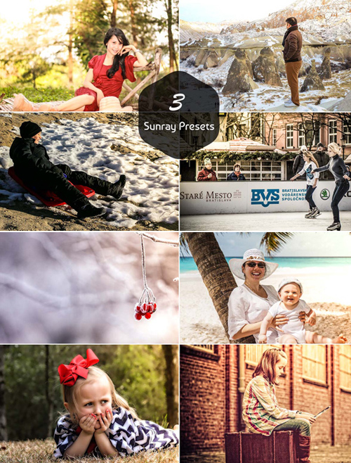3 Sunray Actions - Lightroom Presets
