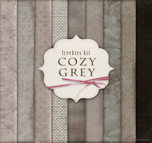 Paper Texture Backgrounds - Cozy Grey